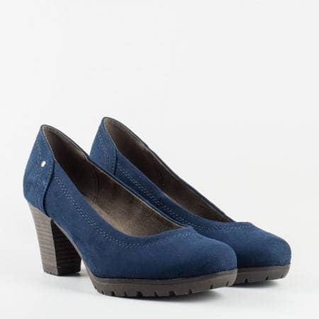 Класически модел немски дамски обувки Jana в син цвят 822460vs