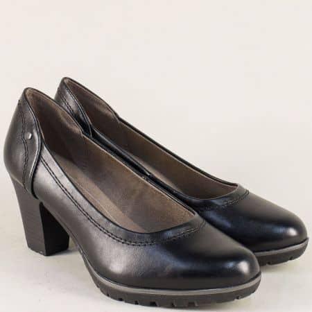 Черни дамски обувки Jana на стабилен висок ток 82246120ch