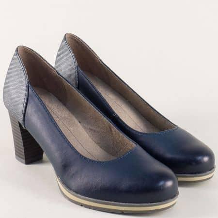 Сини дамски обувки в син и сив цвят на висок ток 82246128s