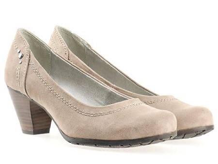 Дамски обувки на среден ток в бежов цвят- Jana 822465vbj