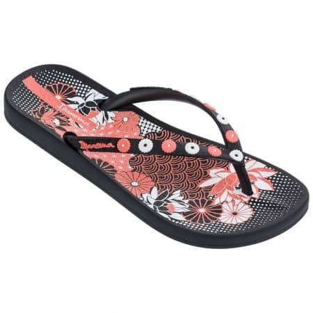 Дамски джапанки в розово, черно и бяло- IPANEMA 8228020780