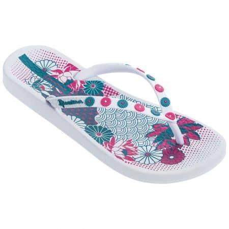 Дамски джапанки в бяло, синьо и розово- IPANEMA 8228020810