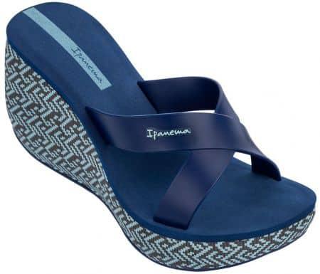 Дамски джапанки на платформа в син цвят- IPANEMA 8228821119