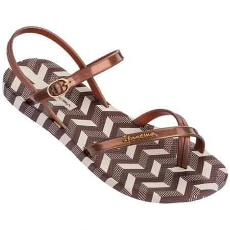 Кафяви дамски сандали- IPANEMA на равно ходило 8229121949