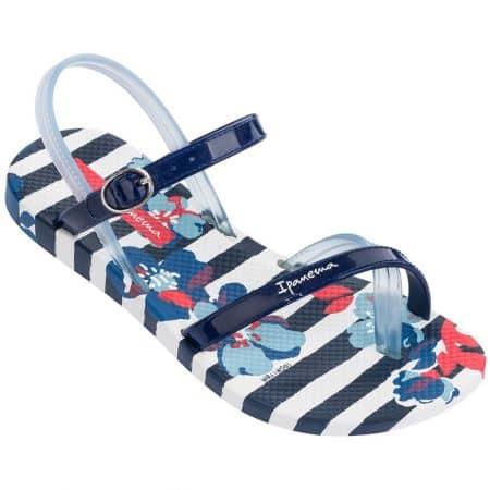 Детски сандали в бяло и синьо- IPANEMA 8229222503