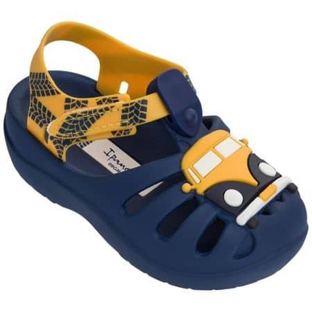Детски сандали в синьо и оранж с лепка- IPANEMA 8230824467