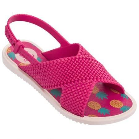 Цикламени детски сандали на равно ходило- ZAXY 8231722551