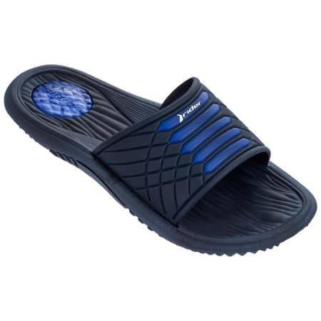Равни мъжки джапанки в тъмно син цвят- RIDER 8232724152