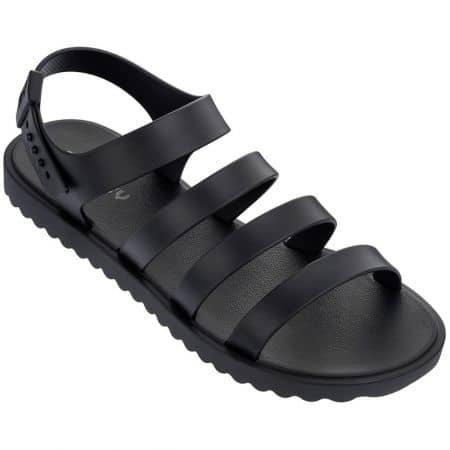 Дамски сандали в черен цвят на равно ходило- ZAXY 8234924502
