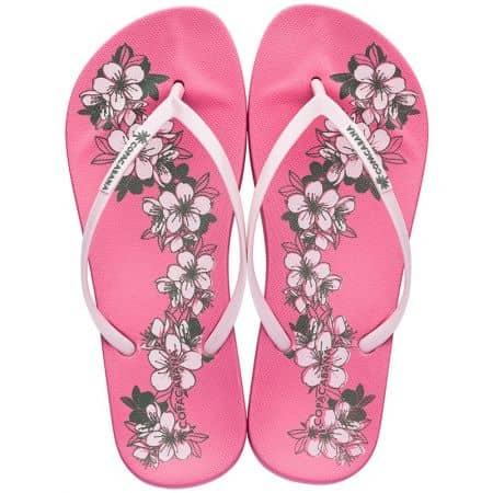 Дамски джапанки в бяло и розово- COPACABANA 8239320791