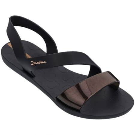 Дамски сандали- IPANEMA в черен цвят на равно ходило 8242921120