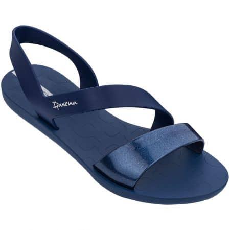 Дамски сандали- IPANEMA на равно ходило в тъмно син цвят 8242922282