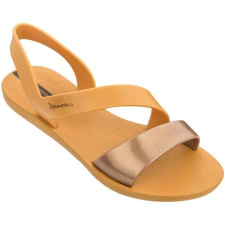 Оранжеви дамски сандали на равно ходило- IPANEMA  8242923975