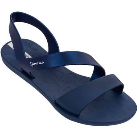 Равни дамски сандали в тъмно син цвят- IPANEMA 8242924675