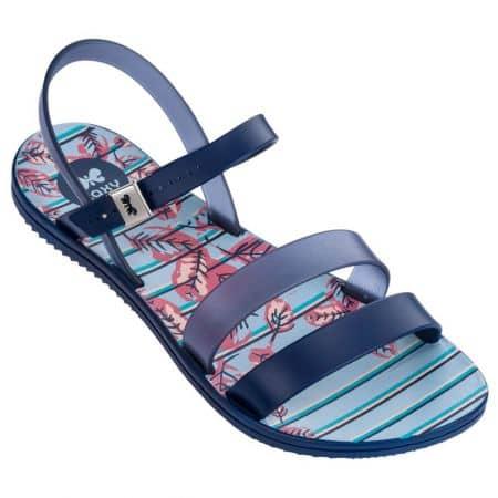 Равни дамски сандали в син цвят- ZAXY 8246890061