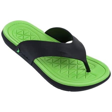 Бразилски мъжки джапанки в черно и зелено- RIDER 8249521675