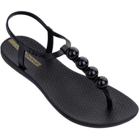Дамски сандали в черен цвят на равно ходило- IPANEMA 8251720766