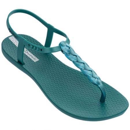 Зелени дамски сандали с лента между пръста- IPANEMA 8251721866