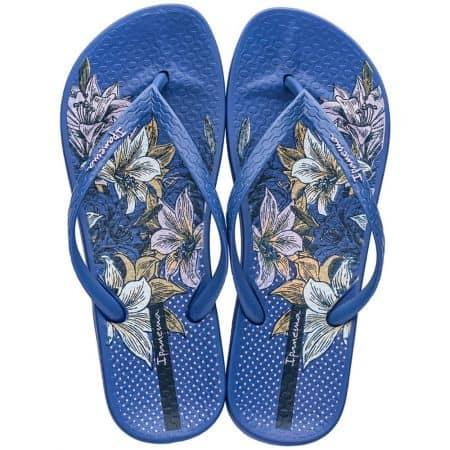 Сини дамски джапанки с лента между пръста- IPANEMA 8252024523