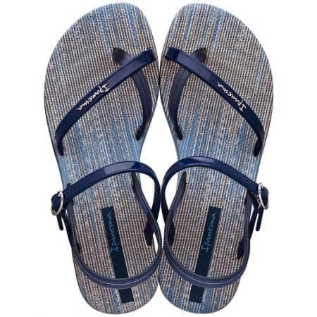 Дамски сандали в син цвят на равно ходило- IPANEMA 8252120294