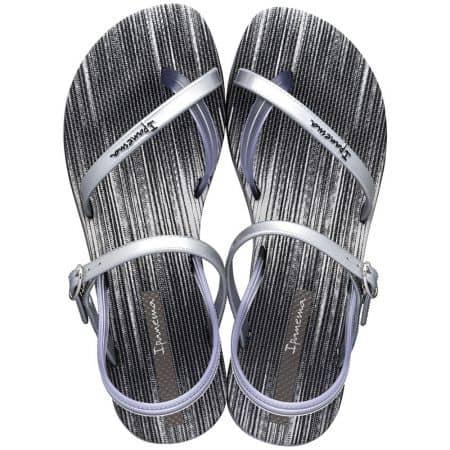Дамски сандали в черно и сребро- IPANEMA 8252120320