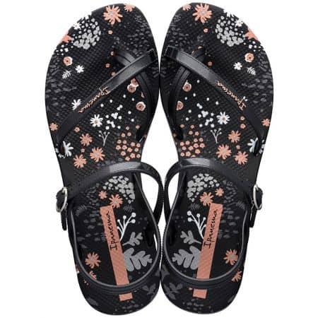 Черни дамски сандали с лента между пръста- IPANEMA 8252120766