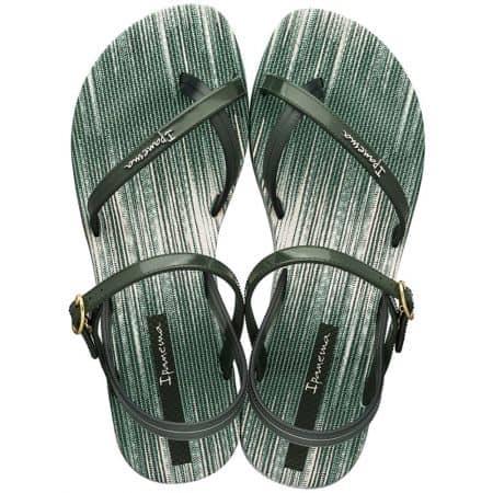 Равни дамски сандали в зелен цвят- IPANEMA 8252120770