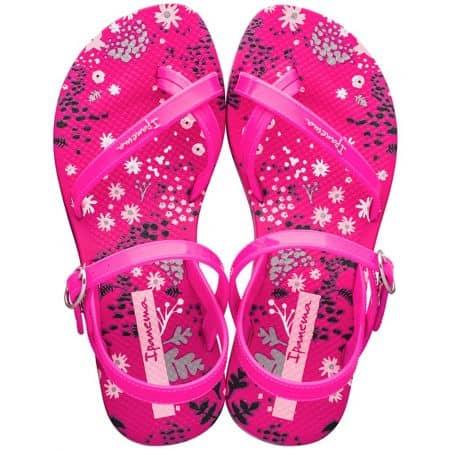 Цикламени детски сандали с флорален принт- IPANEMA 8252220741