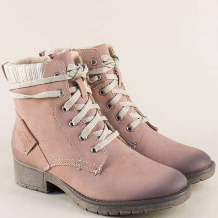 Немски дамски боти в розов цвят на марка JANA 825262rz