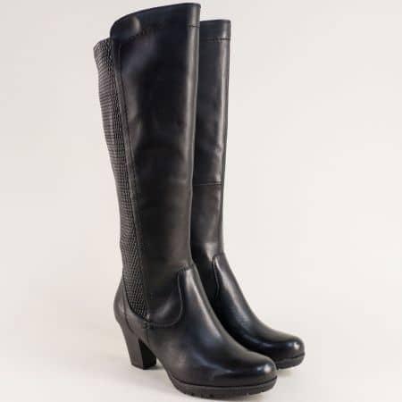 Дамски черни ботуши JANA с Н ширина на ток  825502ch
