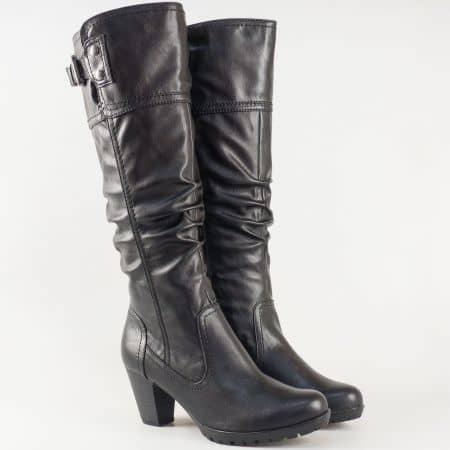 Черни дамски ботуши- Jana на висок ток 825560ch