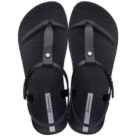 Бразилски дамски сандали на равно ходило в черен цвят 8262620766