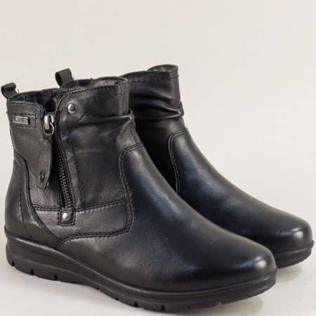 Дамски боти  в черен цвят от естествена кожа- Jana 826428ch