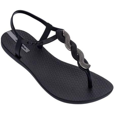 Дамски сандали с лента между пръста- IPANEMA в черно 8267420728