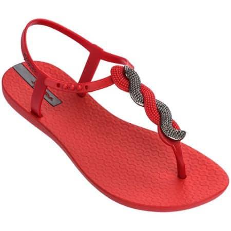 Червени дамски сандали с лента между пръста- IPANEMA 8267422253