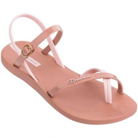 Дамски сандали на равно ходило- IPANEMA в розов цвят 8268220197