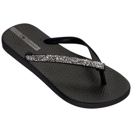 Дамски джапанки в черен цвят с лента между пръста 8268520766