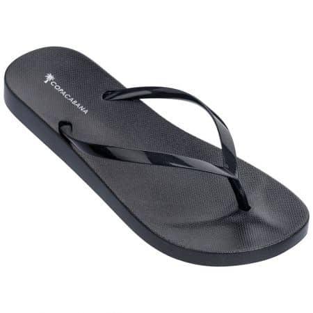 Черни дамски джапанки с лента между пръста- COPACABANA 8269824191