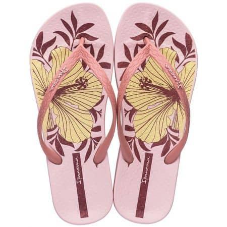 Дамски джапанки в розов цвят с флорален принт- IPANEMA 8276120988