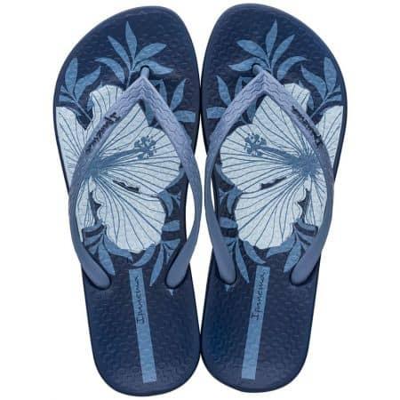 Дамски джапанки- IPANEMA с флорален принт в син цвят 8276123839