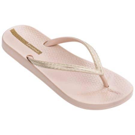 Дамски джапанки в розово и златисто на равно ходило- IPANEMA 8276323257