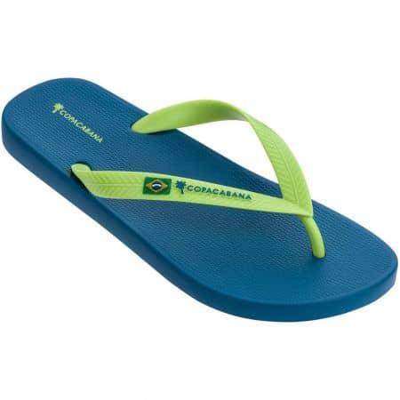 Мъжки джапанки в зелено и синьо на равно ходило- COPACABANA 8278824701