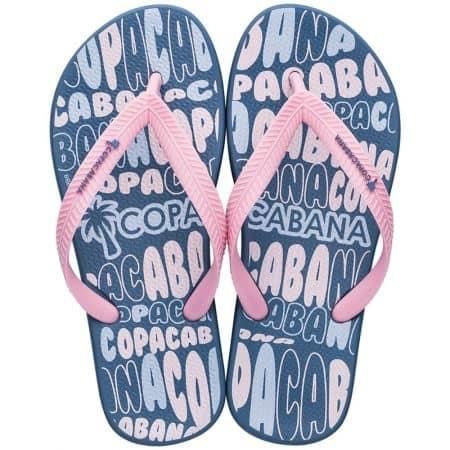 Детски джапанки в розово и синьо на равно ходило- COPACABANA 8279620502