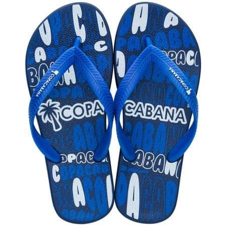 Детски джапанки в синьо и бяло на равно ходило- COPACABANA 8279620729