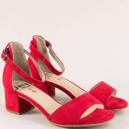 Червени дамски сандали на среден ток с Flex- Comfort 828314vchv
