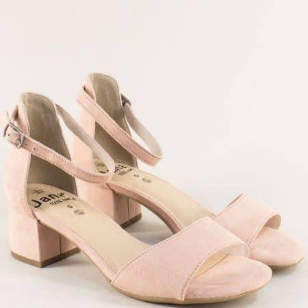 Дамски сандали със затворена пета розов цвят- Jana 828314vrz