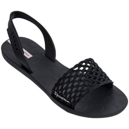 Дамски сандали- IPANEMA на равно ходило в черен цвят 8285520766