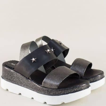 Дамски сандали в черно и бронз на платформа- NOTA BENE 863781167chbrz