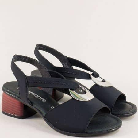 Черни дамски сандали с кожена стелка- REMONTE 8751sch