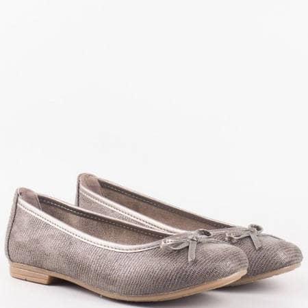 Дамски комфортни обувки, тип балерини, на немския производител Jana в сив цвят 8822164zsv